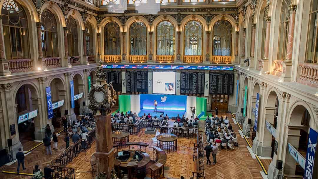 Evento de Twitter en la Bolsa de Madrid