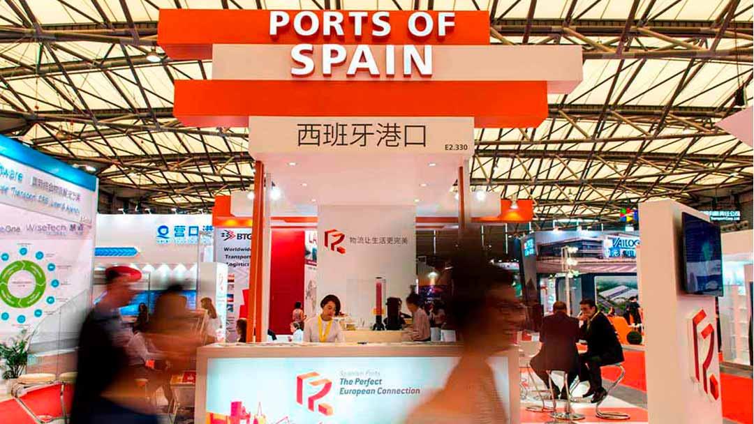 stand Ports of Spain en Shanghai