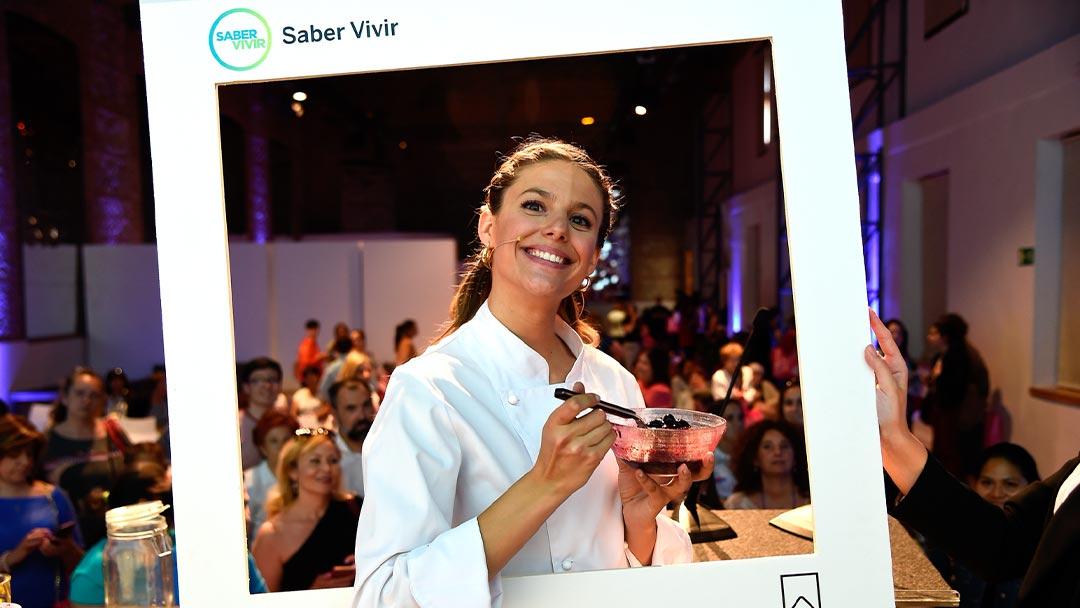 Marta de Masterchef en evento de Saber Vivir